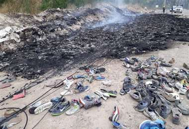 Contrabandistas quemaron su mercancía afectando la fibra óptica