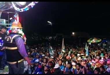 Luis Arce en su visita a Irupana (La Paz).