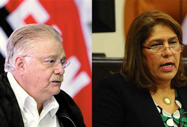 Paúl Oquist y la fiscal Julia Guido. Foto Internet