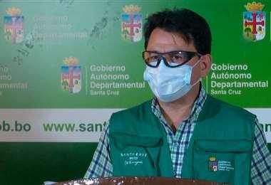 Hurtado lamentó que no se respeten las normas de bioseguridad (Foto: Gobernación de SCZ)