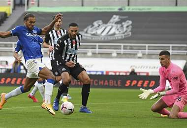 Everton no pudo en cancha de Newcastle. Foto: AFP