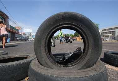 Los bloqueos de vías son una de las medidas de protestas (Foto: Jorge Gutiérrez)