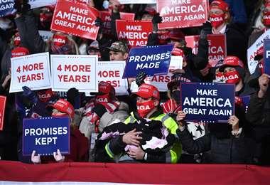 Partidarios de Trump en Pensilvania. Foto AFP
