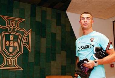 Cristiano lidera la concentración de Portugal. Foto: @selecaoportugal