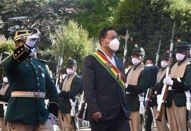 El presidente Arce en Potosí I Twitter.