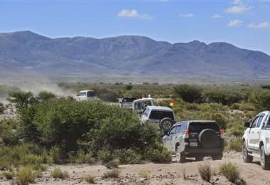 Inconvenientes en la caravana de Evo I AFP.
