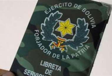 Libreta de servicio militar en Bolivia I archivo.