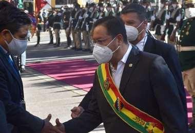 El Presidente estuvo en los primeros actos del aniversario de Potosí (Foto: Oficial)