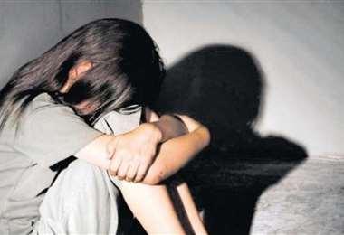 Menor de edad violada. Foto referencial