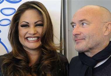 Orianne Cevey, de 46 años, y Phil Collins, de 69, tienen dos hijos juntos