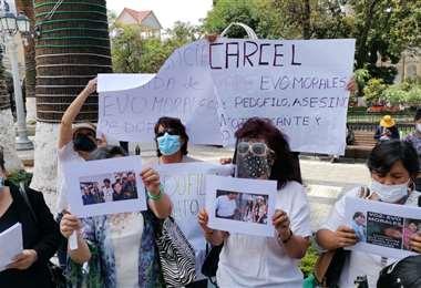 Protestas contra el retorno de Evo Morales