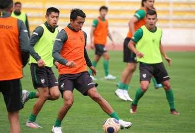 Los seleccionados en pleno trabajo en La Paz. Foto: La Verde