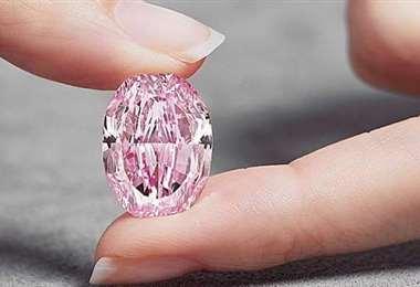 Un excepcional diamante rosa. Foto Internet
