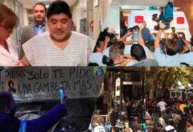 Maradona dejará este miércoles la clínica donde fue operado. Foto: internet
