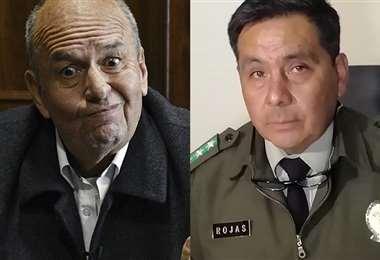 El exministro Murillo y el exjefe de la Felcc, Iván Rojas. Foto: Archivo