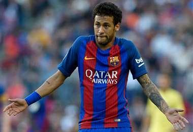 Neymar con la camiseta de Barcelona. Foto: AFP