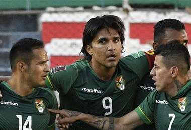 Martins marcó el segundo gol de la selección ante Ecuador. Foto: AFP