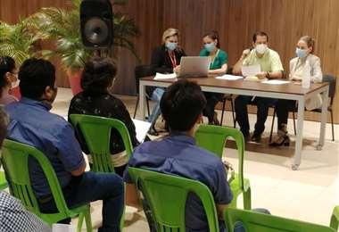 Reunión de empresas con Alcaldía cruceña/Foto: Juan Carlos Torrejón