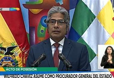 Wilfredo Chávez, nuevo procurador General del Estado/Foto: ABI