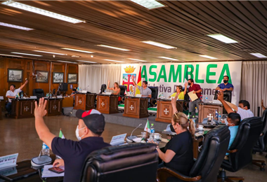 Asamblea Legislativa de Santa Cruz. Foto. Prensa Asamblea
