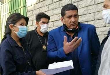 El momento en que Rodríguez es aprehendido en La Paz. Foto: internet