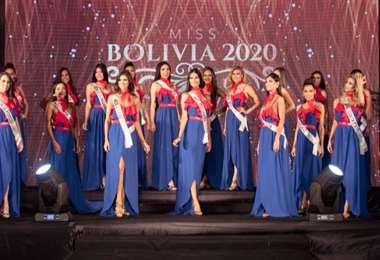 Ellas son las 21 candidatas a Miss Bolivia 2020, solo tres ganarán una corona
