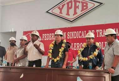 'El flaco' Borda fue proclamado por los trabajadores petroleros