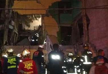 El edificio afectado por la explosión. Foto Internet