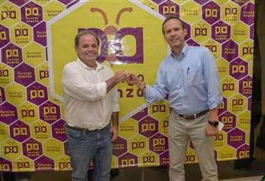 Gil junto al expresidente, Jorge Quiroga