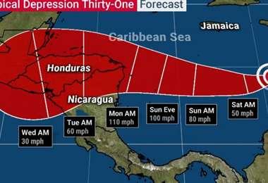 La nueva tormenta tropical. Foto Internet
