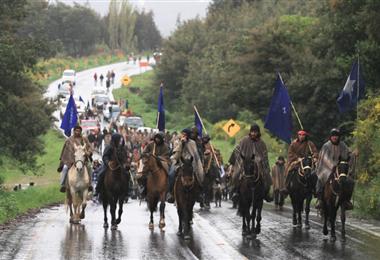 Una protesta mapuche. Foto Internet