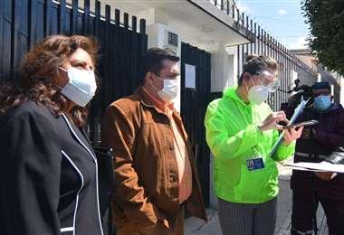 Blanco no logró ingresar a las oficinas de la FBF, de La Paz, en agosto. Foto: APG