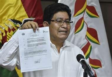 Montaño pidió la renuncia del director de la Estatal/Foto: APG