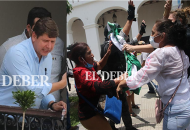 Conflicto en la Brigada Parlamentaria Cruceña. Fotos. J. Gutiérrez y J.C. Torrejón