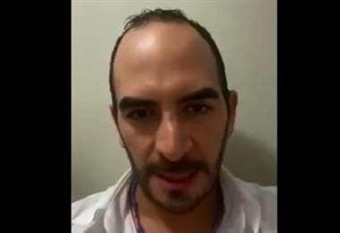 Jorge Valda publicó un video para agradecer las muestras de apoyo