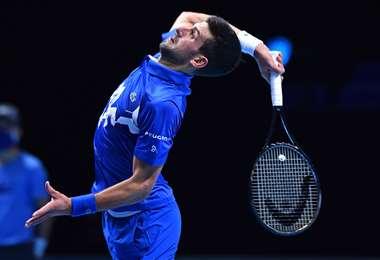Novak Djokovic comenzó con buen pie el Master de Londres. Foto: AFP