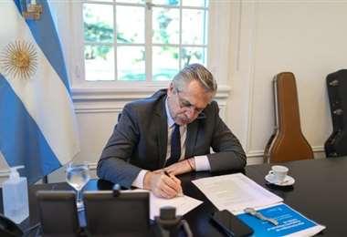 El presidente  Fernández anunció el envío del texto al Congreso
