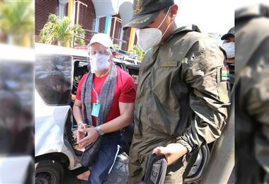 Medina salió después de más de un año de estar preso. Foto. Guider Arancibia