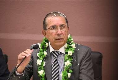 El ministro de Salud, Edgar Pozo.