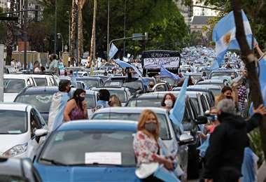 El 8 de noviembre hubo protestas en Argentina contra el gobierno de Fernández /AFP