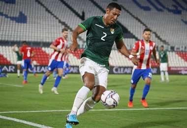 Montero cometió el penal con el que Paraguay se puso en ventaja. Foto: FBF