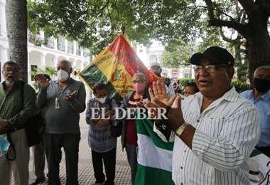 La protesta fue en la Plaza 24 de septiembre. Foto: Juan Carlos Torrejon