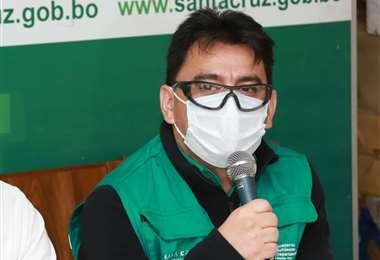 Carlos Hurtado, en plena conferencia