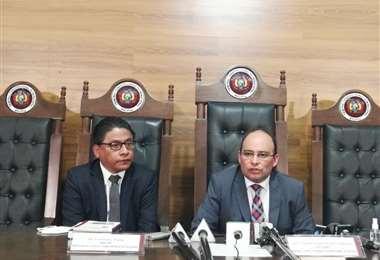Esta es la primera visita oficial de Lima a las autoridades del Órgano Judicial