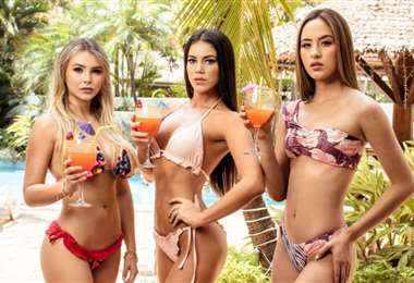 Miss Pando, miss Beni y Miss Santa Cruz participan en el concurso Miss Bolivia 2020