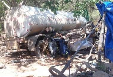 Accidente en Camiri/ Foto: Radio HIT FM