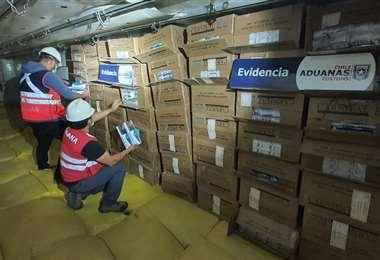El cargamento decomisado I Aduana Chile.