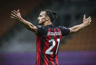 Zlatan Ibrahimovic, delantero del Milan. Foto: internet