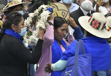 Orellana salió de las filas de las Bartolinas /Foto: ABI