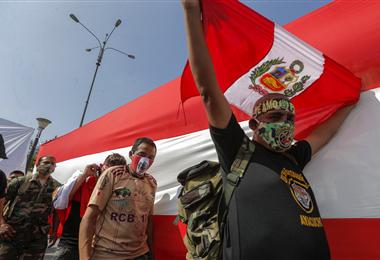 La crisis peruana derivó en protestas callejeras multitudinarias. Foto. AFP